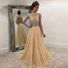 High Quality Hot Selling Funky Golden Night Dinner Prom Ball Dresses Cheap Long Evening Dresses Latest Women's Evening Dress