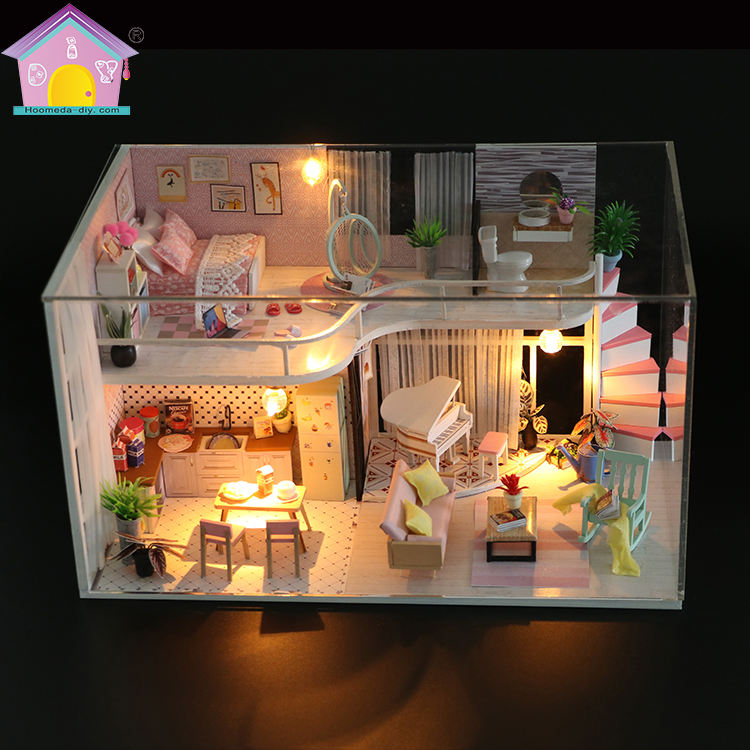 Fitness Loft Style DIY Doll House Kit Birthday Gift for Kids Adults