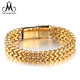 Luxury Jewelry Men Bracelet Stainless Steel Gold Metal Accessories
