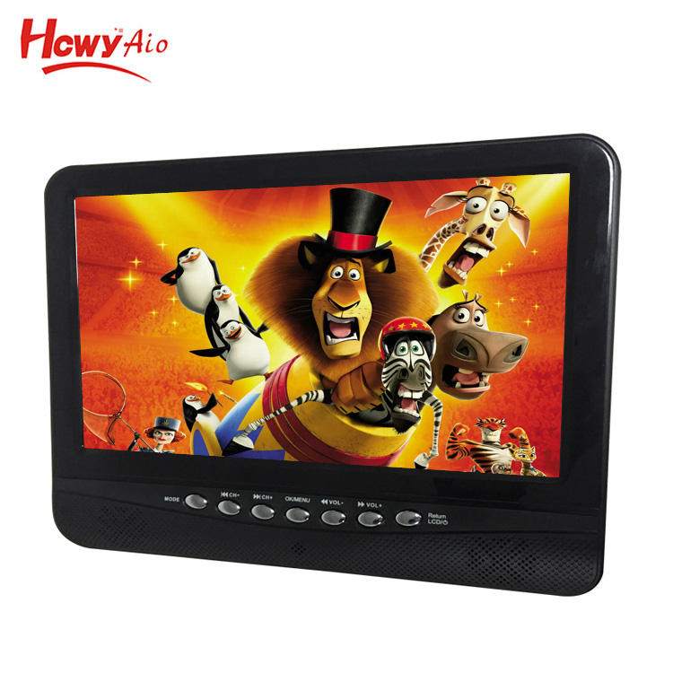 ISDB-T 7 Inch Digitale Analoge Twee In Een Draagbare Tv 7 ''Led Mini Televisie 7 Inch Gemotoriseerde 1080 P auto Monitor Tv
