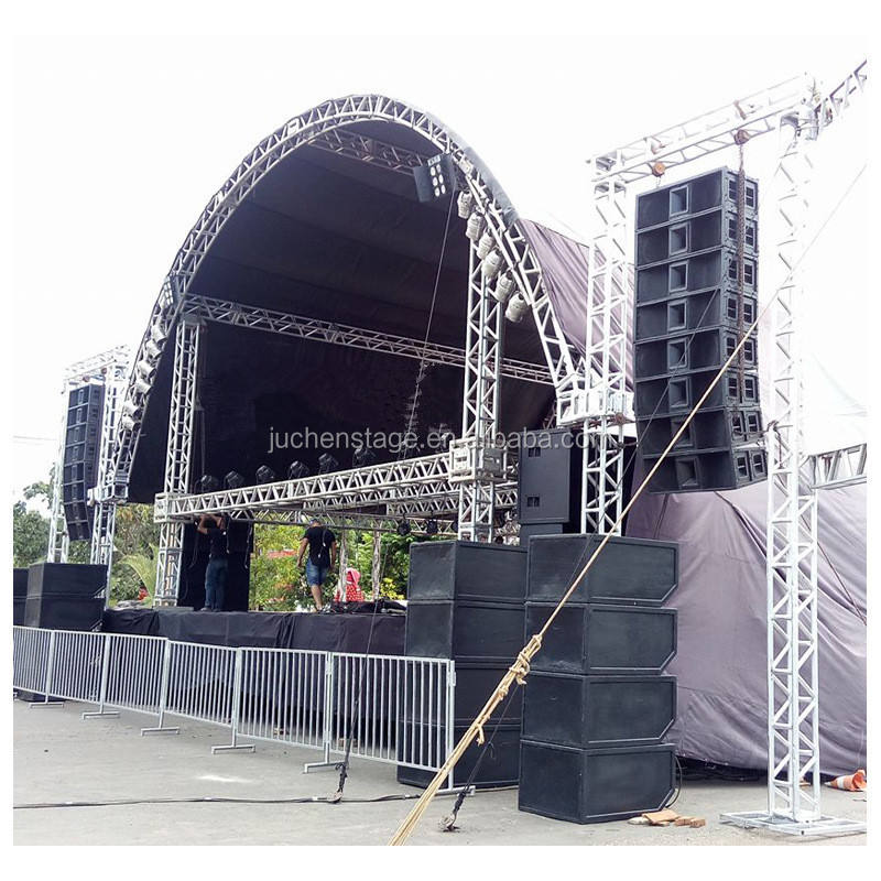 DJ Concert Music Lighting Truss / Aluminum Lighting Truss Frame / Outdoor Stage Truss Design