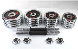 Hot selling factory 40KG Adjustable cast iron Chrome Dumbbell Sets