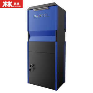 Galvanized steel box parcel delivery box drop box with handle parcel safe