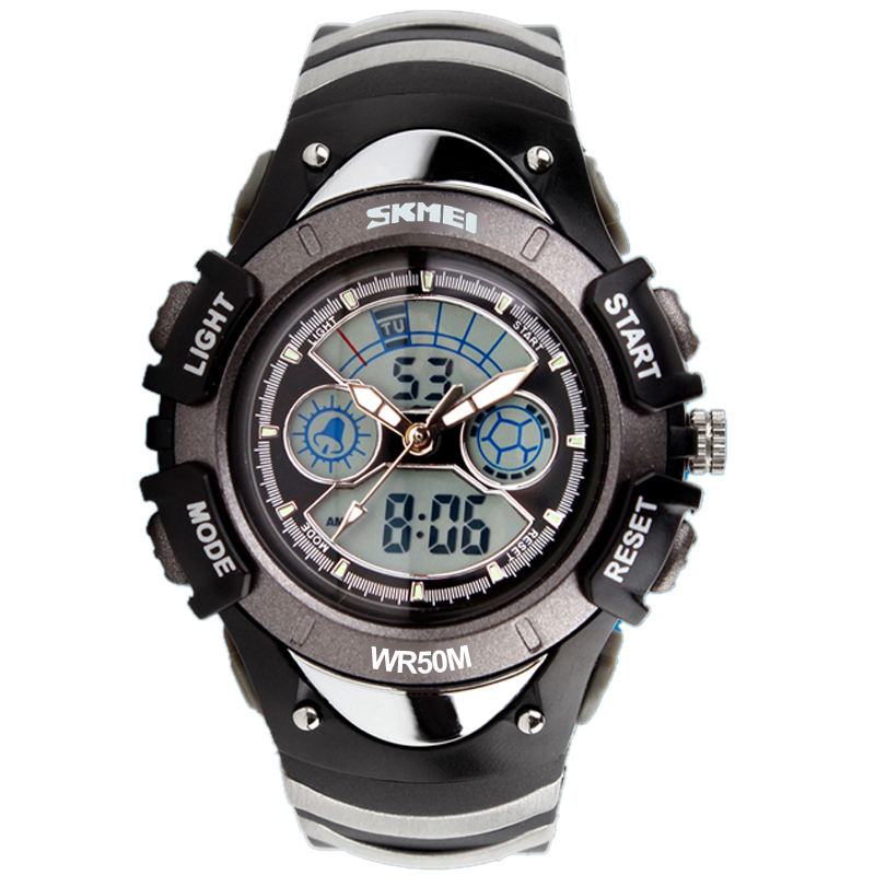 Wholesale SKMEI 0998 analog digital kid watch cheap dual time sport waterproof watch