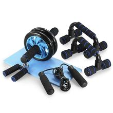 AB Wheel Roller Kit with Push-UP Bar Hand Grip Jump Rope