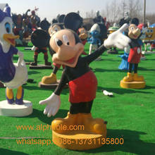 Wholesale Fiberglass Cartoon Character Statue Mickey Mouse Statue