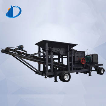 High Capacity Small Mobile Stone Jaw Crusher Plant With Factory Price