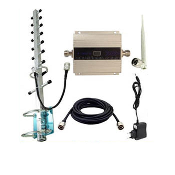Complete set cell phone signal booster 2100MHz 3g signal repeater with antenna and cable