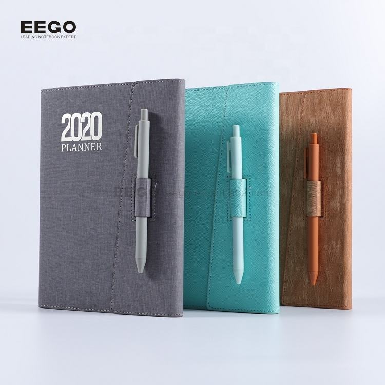 custom company logo 2020 pocket weekly academic year 24 hour daily organiser diary planner and pen set