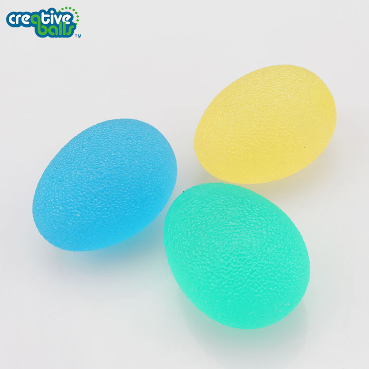 High Quality Egg Shaped Squishy Stress Balls Hand Therapy Finger Exercise Stress Ball