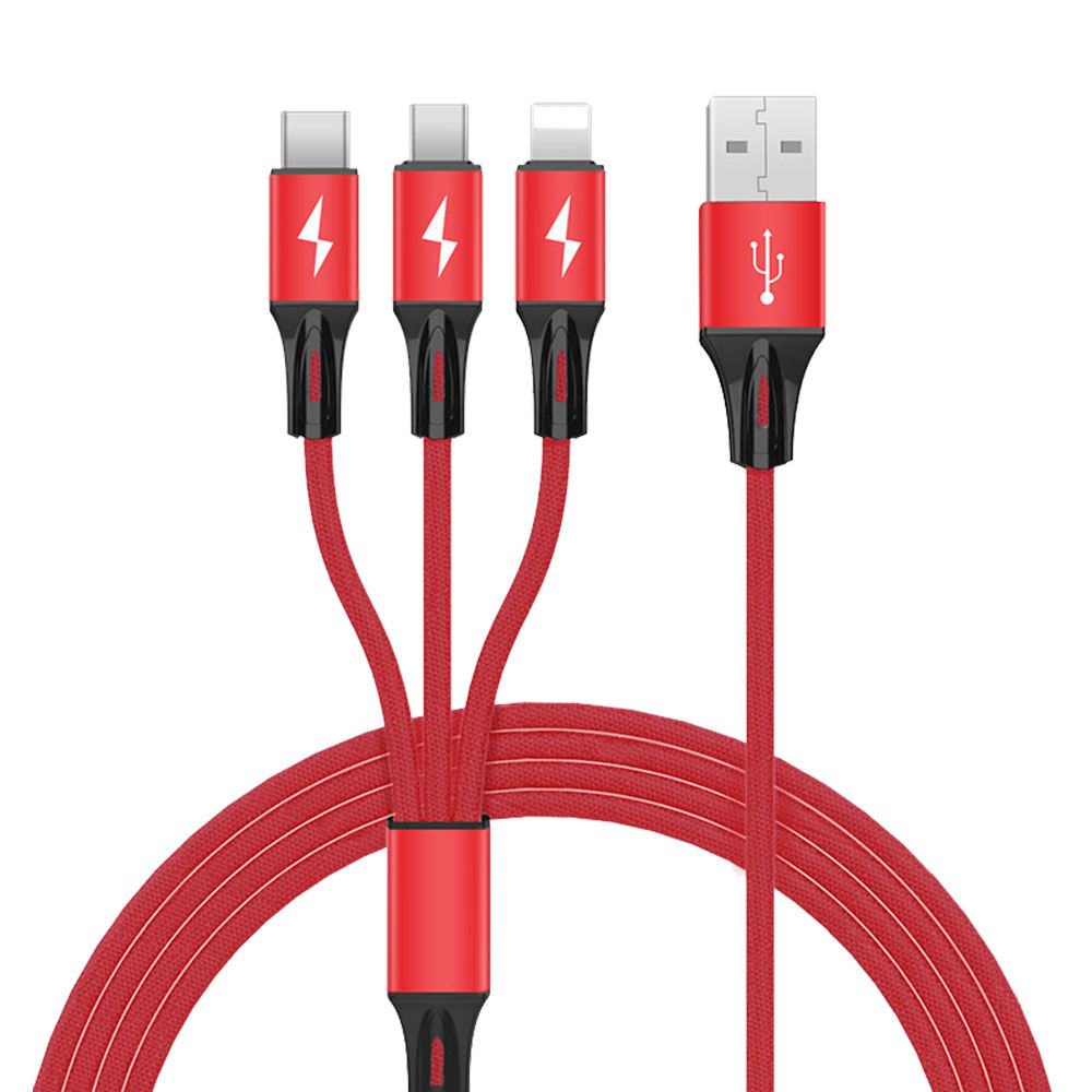 Have Stock 2019 New Product 3A 3 in 1 USB Data Charging Cable xyz-link