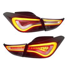 LED Tail Lamp Light Assy For Hyundai Avante i35 Elantra 2011-14 year Smoke Black WH