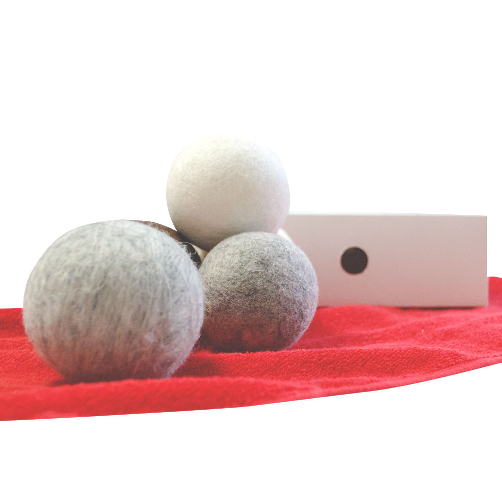 felt wool laundry drier dryer balls with instruction
