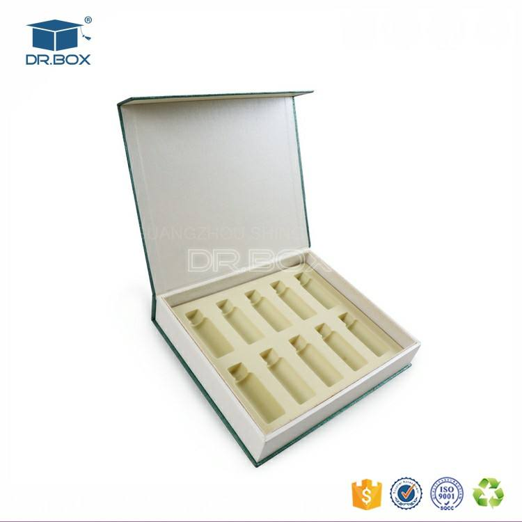 Paper collagen oral liquid packing box medicament skin care product packing box with flocking velvet insert