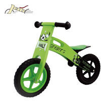 Balance Ting Bikes Tire as Kids Toy Bicycles Plastic Wheel Wooden with Rubber Soccer Kid 12""
