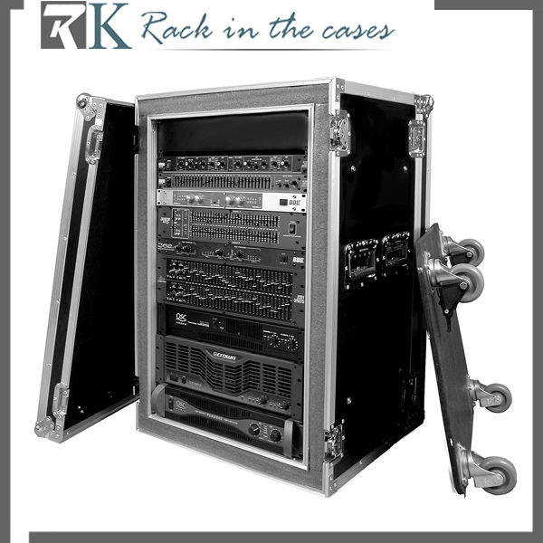 Rack Fly Case Rack RK-18'' Shock-Mount Amp Rack- 18U With Wheels