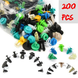 200PCS Universal Mixed Auto Fastener Car Bumper Clips Retainer Panel Fender Liner Fastener Rivet Car Door Clip