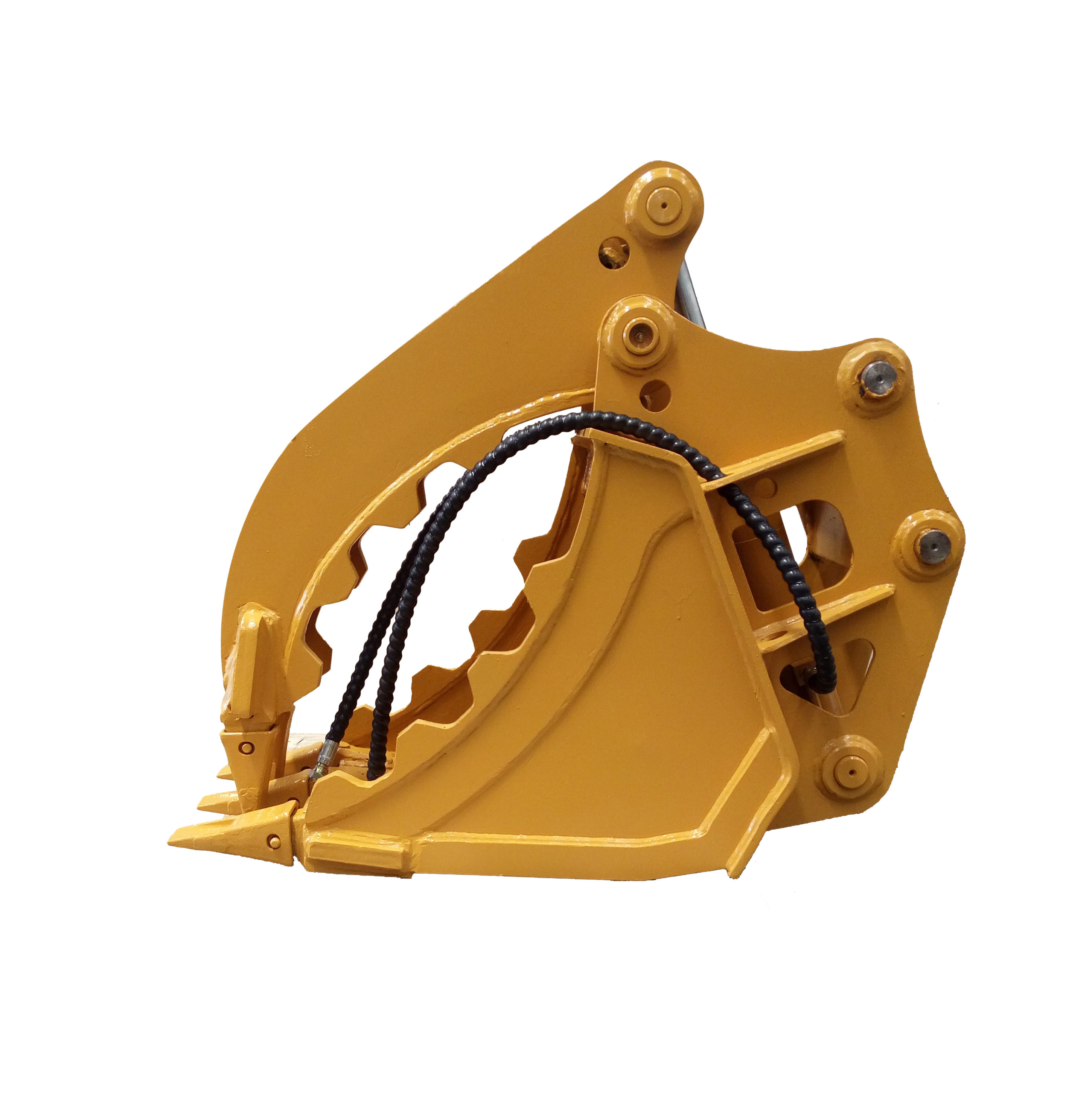Excavator attachments clamshell grab buckets