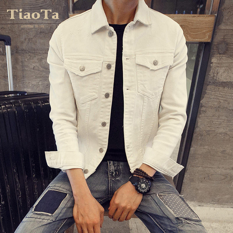 China Fabriek Goedkope Hot Koop Fashion Mens White Winter Jeans Jas Mannen Groothandel