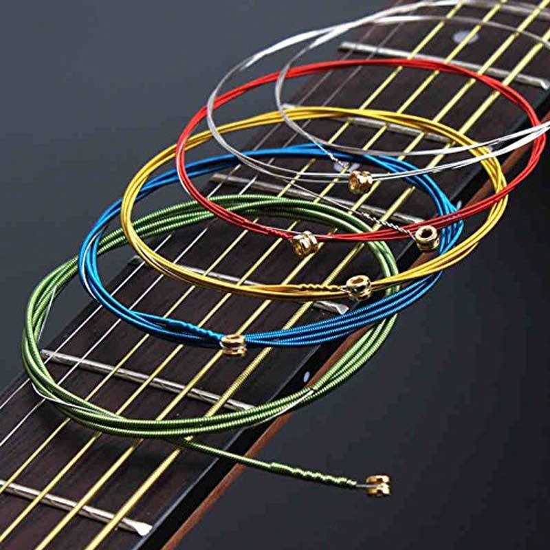 European Fashion classical rainbow colorful Guitar Strings OEM