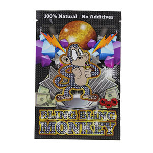 Custom mini foil laminated mylar ziplock bag for weed packaging