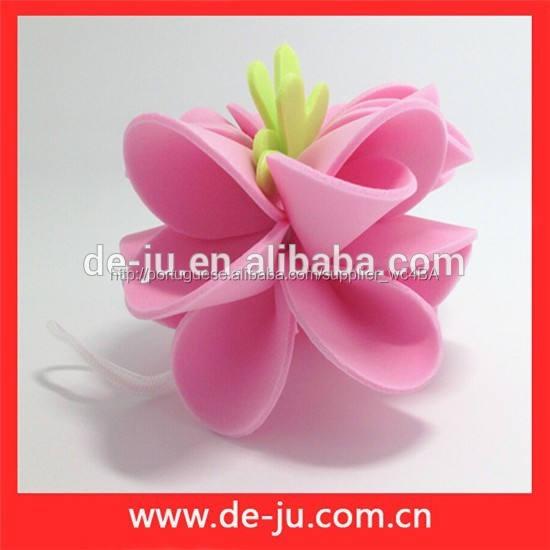 Promoção colorido flor Eva toda a forma banho de bola Artificial flores de banho
