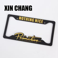 USA size custom plastic  license plate frame