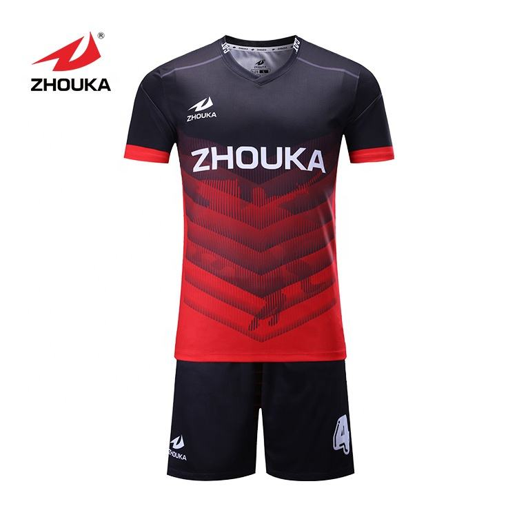 Design A Football Team Kit Cheap Soccer Jersey Set For Team maillot de foot Sublimation Soccer Wear Printing Football Jersey