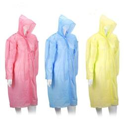 Wholesale cheap adult waterproof fabric plastic disposable raincoat