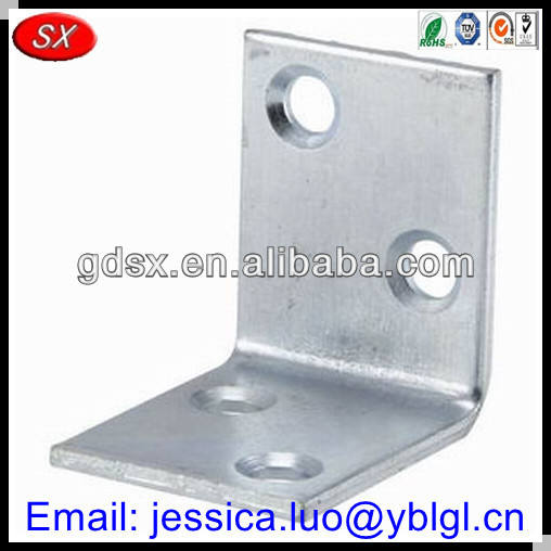 high precise small/mini silver/clear anodizing l brackets aluminum,l shape aluminum bracket,camera l bracket stamping metal part