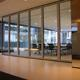 Hanging System Sliding Aluminium Track Roller Folding Glass Partition Walls