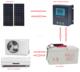 100% solar air conditioner split system 48V DC inverter/24 hours 18000btu 100% solar air conditioner/ wall split air condition