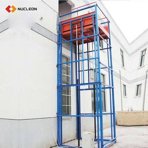 Vertical Hydraulic Guide Rail Freight Elevator Lift /Vertical Guide Rail Elevators Hydraulic Warehouse Cargo Lift