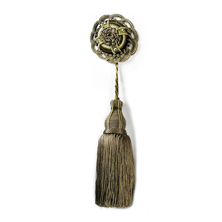 Tassels making manufacture wholesale knotted chainette key tassel