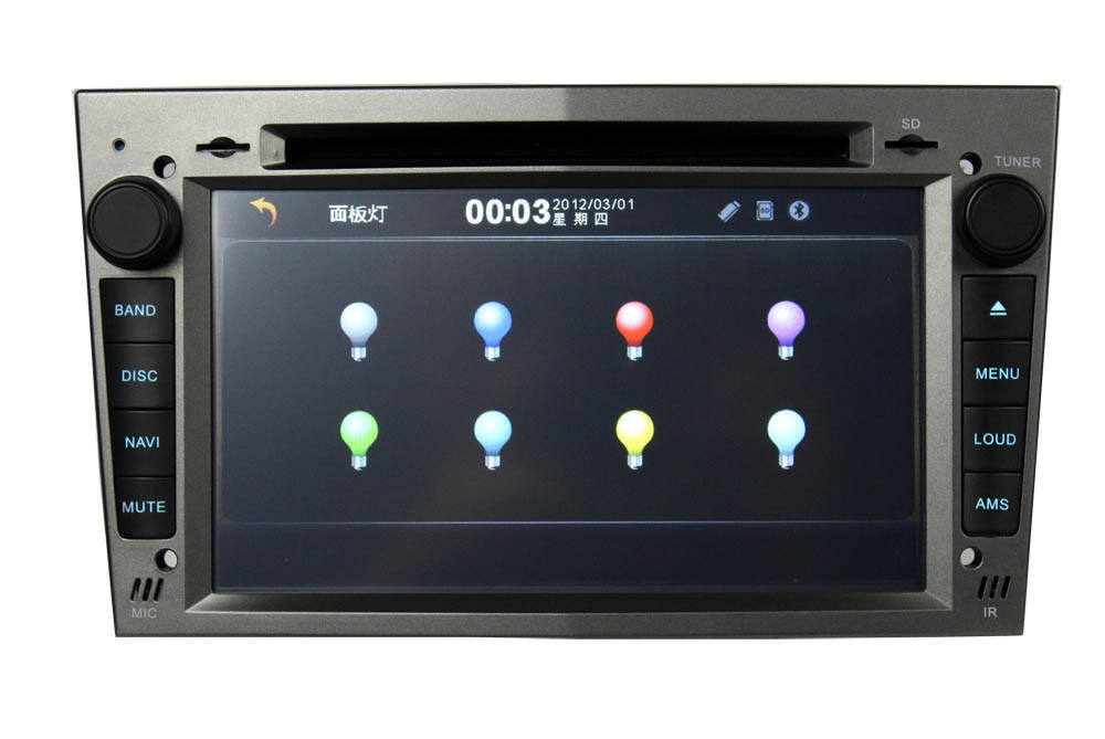 Android 2 din touchscreen auto dvd player mit gps, ipod, radio für opel astra