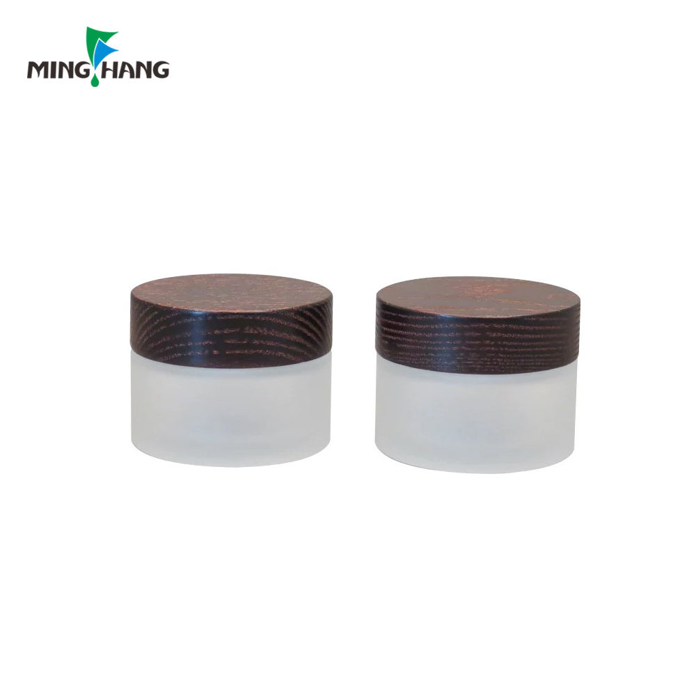 Jar Cosmetic Cream Glass Jar Environmental 30g 50g Cosmetic Package Glass Cream Facial Jars With Bamboo Cap