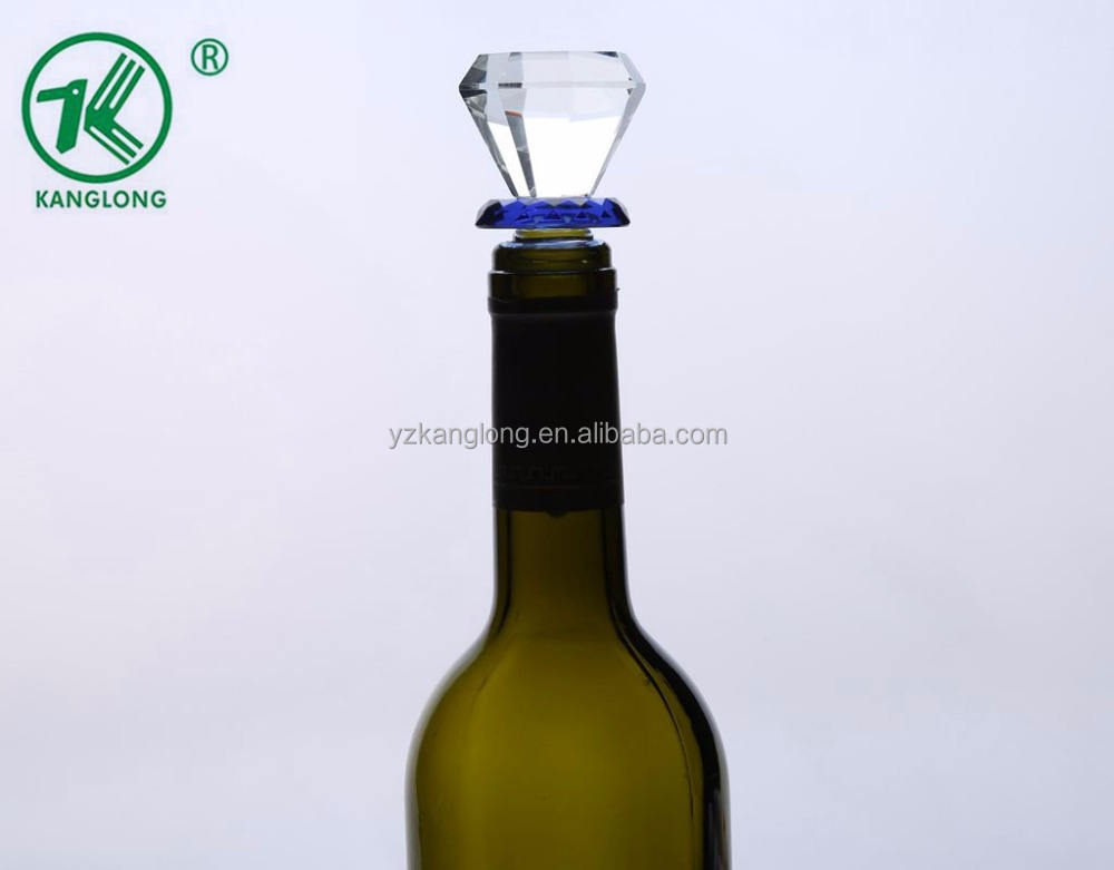 European Design Lead-free Crystal Glass Wine Cork with Silicone Seal Ring
