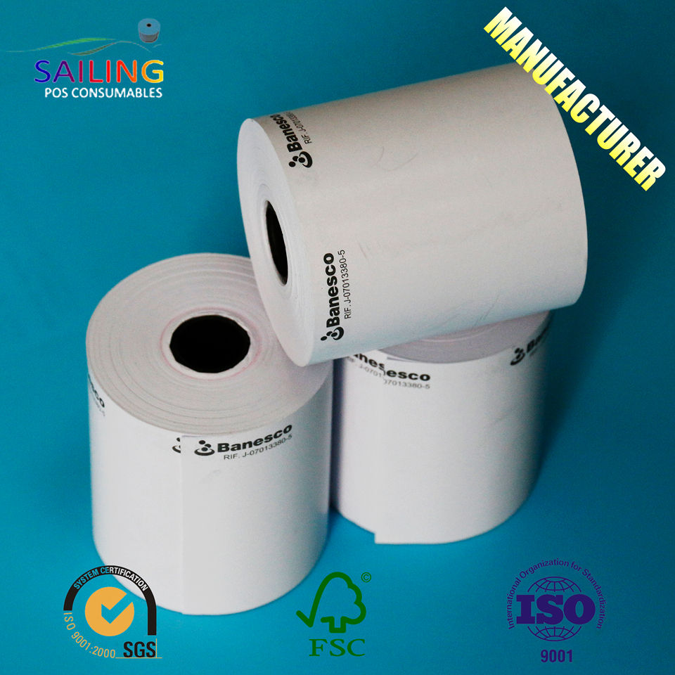 Wrapping 80 Gsm Core Offset Hologram Ticket Printing Pos Cash Register 80 X 80Mm Jumbo Paper Roll
