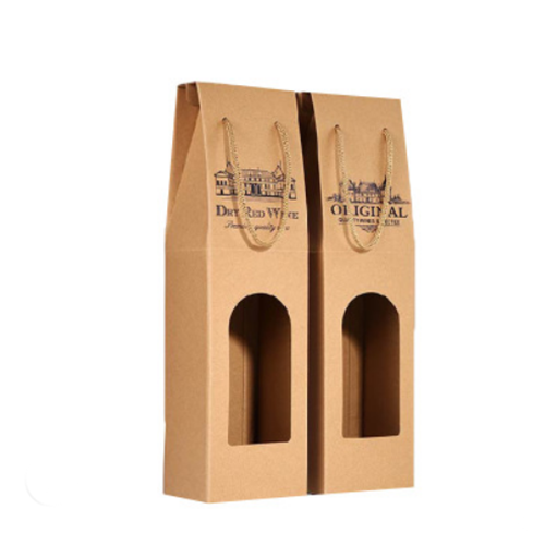 custom 3 2 1 bottle wine beer carrier corrugated paper packaging wine gift box