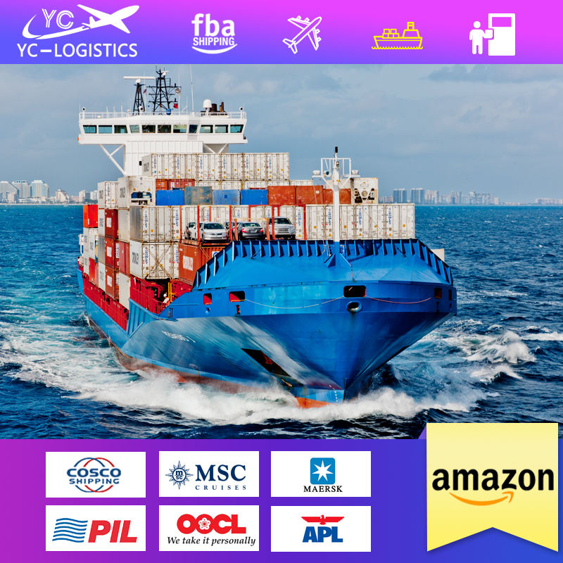 sea freight charges china to usa fba amazon ddp door to door service shipping to usa
