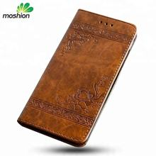 Hot Sale Embossed PU Leather Wallet Phone Case for Samsung S7 With Card Slot