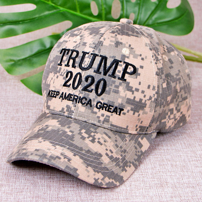 New Style Trump 2020 Keep America Great Embroidery Baseball Cap Adjustable Army Cap Camouflage Snapback Cap