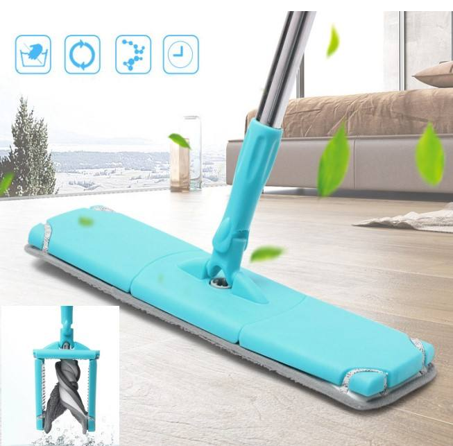 Automatic Squeezed Hand Free Microfiber Floor Mop with 2pcs microfiber