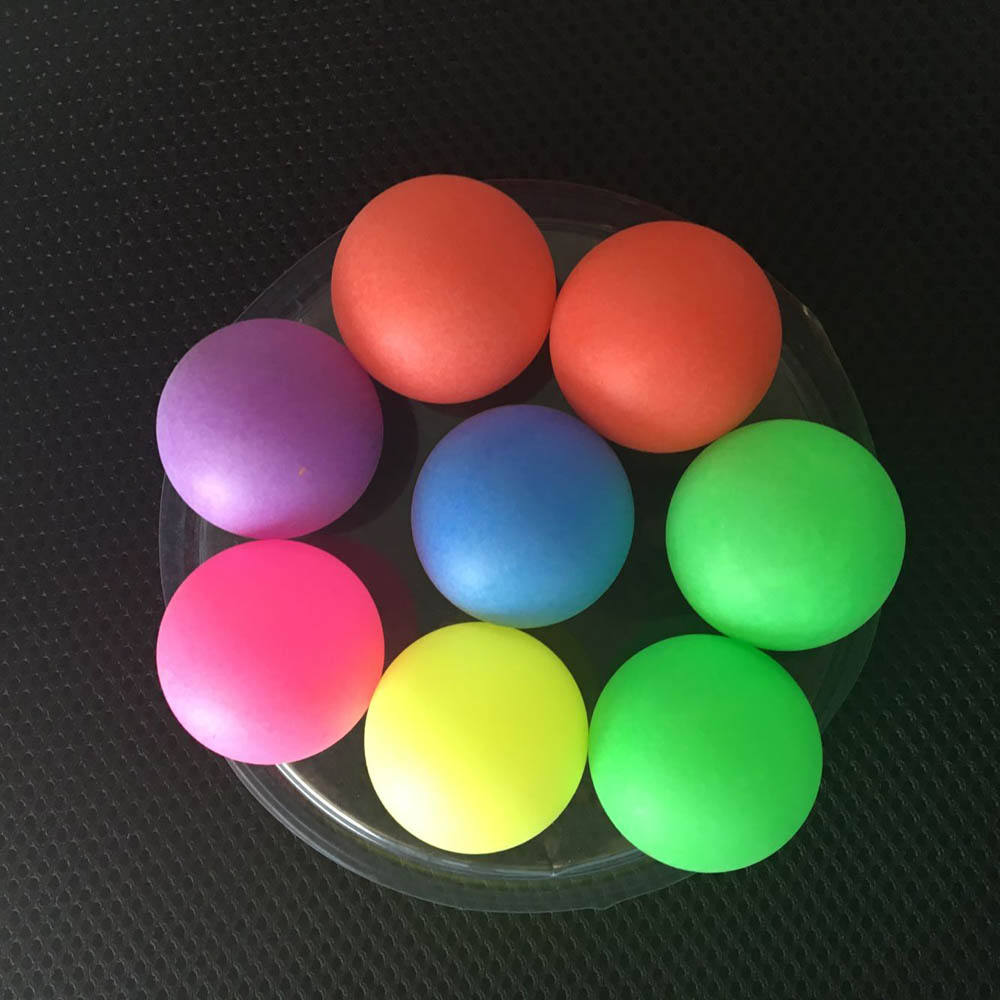 custom logo PP Red pink green blue black beer pong 40mm table tennis ball Plastic ping pong ball