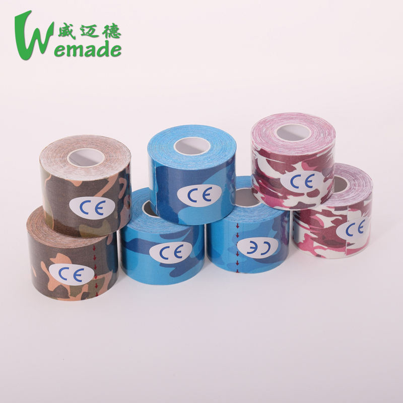Wuxi Wemade 12 colours are available cotton kinesology and sports tape