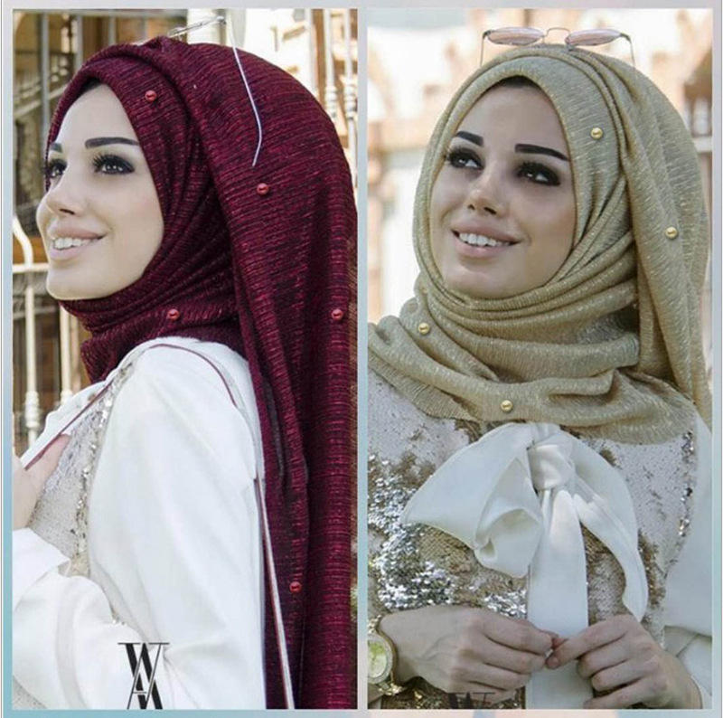 New stylish 15 colors dubai wholesale crinkle shimmer muslim sequin hijab scarf