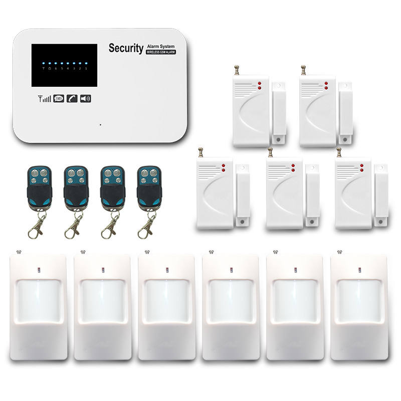 Neues design! Wireless GSM Home Security System/Wireless Home Alarm kit/Sim-karte GSM Alarmanlage