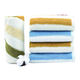 Square Muslin Face Cloth 100% Cotton Towels 100% Cotton Muslin Colorful Stripped Gauze Face Wash Cloth Towel