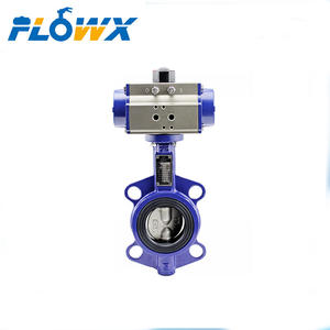 1inch 4inch 8inch 10inch PN25 Pneumatic Actuated Cast Iron Ductile Wafer Butterfly Valve
