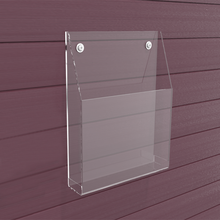 Single Pocket Wall Mounted Clear Acrylic Brochure Holder